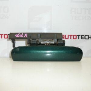 Klika pravých předních dveří CITROEN XSARA zelená metalíza 9101N3