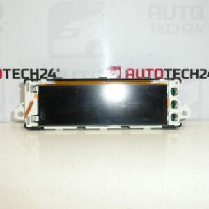 Display rádia počítače PEUGEOT 207 9656102380